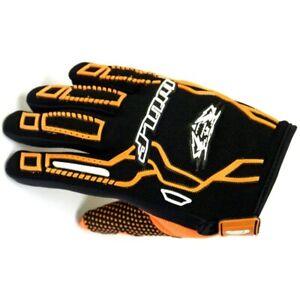 Wulfsport F10 Orange motocross trial KIDS gloves size 3XS motorbike MTB age 3-4