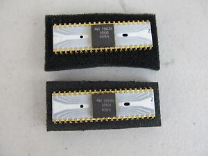 QTY=2 AMI S6800 40-Pin Microprocessor Ceramic, Gold Pin Vintage White 1970s