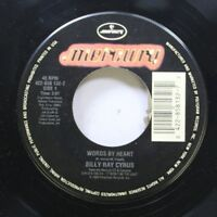 Country 45 Billy Ray Cyrus - Words By Heart / Throwin' Stones On Mercury