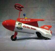 Captain Video Rocket Ship Roberts Pressed Steel Ride On Dumont TV Space Scooter