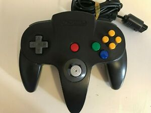Official Nintendo BLACK Controller for the Nintendo 64 N64  Console Tested #2