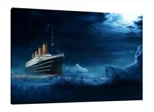 Titanic 30x20 Inch Canvas - Framed Picture Print Wall Art