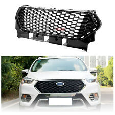 Replacement For Ford Escape 17-19 Front Upper Full Black Honeycomb Grill Grille
