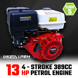 13HP OHV Petrol Engine Stationary Motor Horizontal Shaft Recoil Start