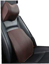 Car Headrest Neck Pillow and Lumbar Support Back Cushion Kit Memory Foam Univers