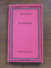 1968 - IN AND OUT by Ann Taylor - Ophelia Press - adult erotic pulp sleaze 1st
