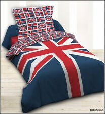 Housse de couette + 1 taie  UNION JACK LONDON BRITISH 140X200 cm 100% coton