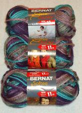 Bernat Softee Chunky Yarn Lot Of 3 Skeins (Shadow #29121)