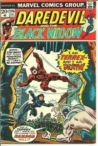 Daredevil #106 (DC, 1973) Featuring Black Widow Moon Dragon Terrex Ramrod!!