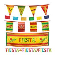 Wild West Mexican Fiesta Party Pennant Flag Hanging Banner Bunting Decoration