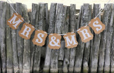 Gay Lesbian Wedding Banner Party Handmade Cards Decor Bunting Sign MRS & MRS