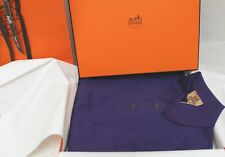 HERMES Men's Sport Polo Shirt Dark Purple Medium New