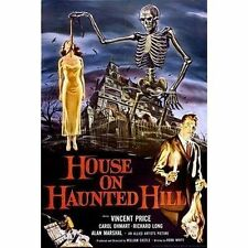 HOUSE ON HAUNTED HILL - MOVIE POSTER - 24x36 VINCENT PRICE CLASSIC HORROR 3198