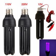 E27 Light Bulb Violet Blacklight Lamp Stage AC110V 40W Black UV Sterilizer Lamps