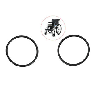"""Pack of 2 Solid Wheelchair Street Tire Fit Most 24x1-3/8"""" Wheel Chair Black"""