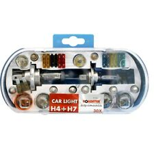 H4 & H7 Replacement Light Bulbs and Fuse Set 30pc Kit Van Car Motor Bike