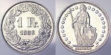 1 FRANCO FRANC 1936 B SVIZZERA HELVETIA SWITZERLAND Spl XF #2911