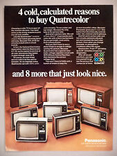 Panasonic Quatrecolor Color Television PRINT AD - 1973 ~ TV ~ eight models