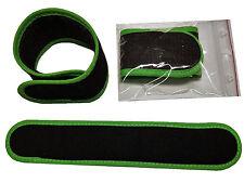 4 x cañas cinta de velcro 25 cm x 4 cm material suave (Negro Verde) pescar Premium