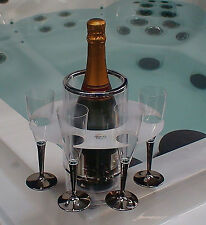 Jacuzzi Spa Agarre o bebidas de vidrio de botella para Soporte de Embarcación/Camping/Picnic