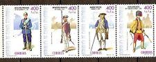 Equatorial GUINEA ECUATORIAL Edifil # 248/251 ** MNH Uniformes Militares Army