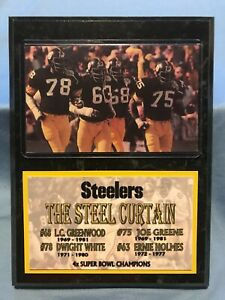 PITTSBURGH STEELERS  THE STEEL CURTAIN  SUBLIMATION PHOTO PLAQUE