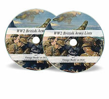 WW2 British Army Lists 1938-1946 84 Volumes on 2 Searchable DVDs World War 2 F4