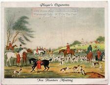 """Fox Hunters Meeting"" Foxhound Dog 1930s Ad Trade Card"
