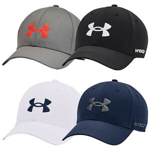 2021 Under Armour Mens Golf96 Cap UA Baseball Hat Stuctured Adjustable Curved