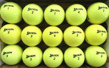 New listing 15 SRIXON SOFT FEEL Yellow  used GOLF BALLS, AAAA,  FREE SHIPPING