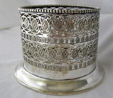 Vintage 1920's Scottish silverplate champagne bottle holder