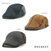 Men's Knitted Wool Driving Duckbill Hat Warm Newsboy Flat Scally Cap