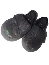Tom's Toddler Girl's Black Sparkle Slip On Shoes Size 5