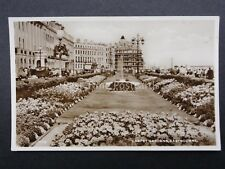 Sussex EASTBOURNE Carpet Garden & Fountain - Old RP Postcard