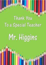 Personalised Teacher Thank You Card Design 2