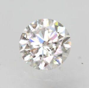 Certified 0.32 Carat D SI1 Round Brilliant Enhanced Natural Loose Diamond 4.41mm