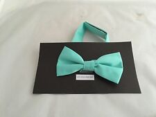 << NEW >Mint Green Polyester BOYS Ready Pre-tied Bow tie > P&P 2UK > 1st Class