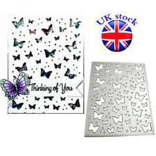 Butterfly Background Metal Cutting Dies DIY Scrapbooking Embossing Stencil Craft