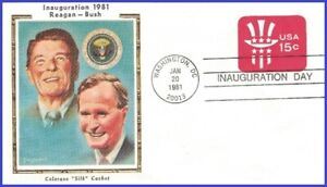USA5 #IN31 U/A COLORANO SILK 4 FDC Inauguration Reigan 1st Term 1981