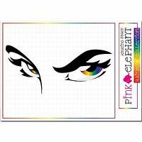Gesicht - Augen - Eyes - 22 cm x 10 cm - Aufkleber sticker Regenbogen rainbow 33