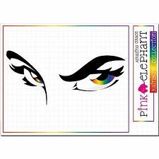 Gesicht - Augen - Eyes - 22 cm x 10 cm - rainbow 33 Aufkleber sticker Regenbogen