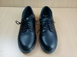 Dr Martens 1461 AW612 Black Leather Made In England Shoes Air Wair Size