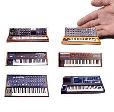 moog roland korg synthesizer Synth Fridge Magnet Set. Retro x6