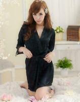 Women Long Silk Kimono Dressing Gown Bath Robe Babydoll Lingerie Nightdress Best