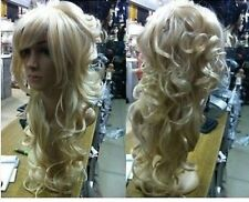 NEW405 charming Long blonde wavy   women's health hair wigs for women wig