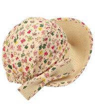 Jacaru Straw Hat Visor Ladies Cotton Bo Peep Style Bonnet Beach Holiday New