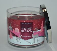NEW BATH & BODY WORKS TIS THE SEASON SCENTED CANDLE 3 WICK 14.5OZ LARGE RED