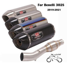 For Benelli 302S 2019 2020-21 Exhaust System Muffler Tail Silencer Mid Link Pipe