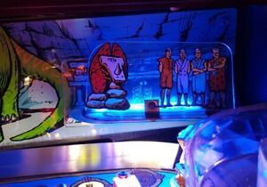 FLINTSTONES Pinball PLASTIC light mod BLUE