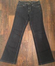 Women's~ Nine West Denim Dark Blue Jeans Mid-Rise Bootcut Size 6/31